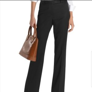 TRINA TURK dark gray straight leg trousers pants